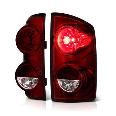 07-08 Dodge Ram 1500 / 07-09 Ram 2500 3500 Tail Lights - Red Smoked