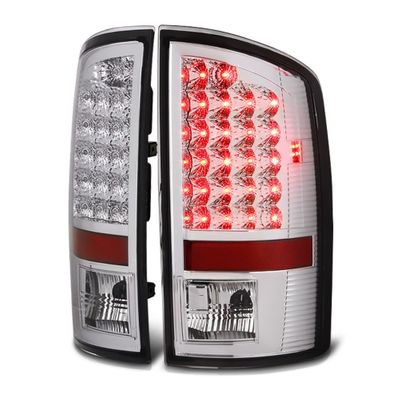07-08 Dodge Ram 1500 2500 3500 Pickup Truck Bright LED Tail Lights - Chrome By Spyder