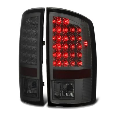 07-08 Dodge Ram 1500 2500 3500 Pickup Truck Bright LED Tail Lights - Smoked By Spyder