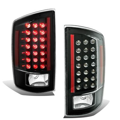 07-08 Dodge Ram 1500 2500 3500 Pickup Truck Euro Style LED Tail Lights - Black