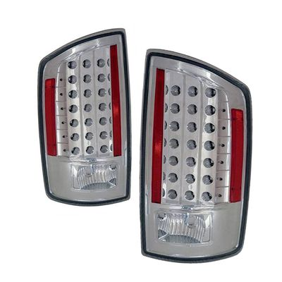 07-08 Dodge Ram 1500 2500 3500 Pickup Truck Euro Style LED Tail Lights - Chrome