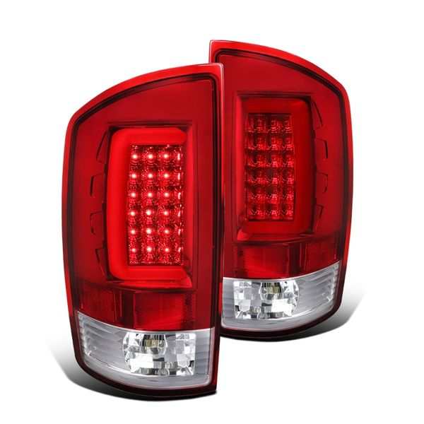 07-08 Dodge RAM Optic-Style LED Tail Lights - Red