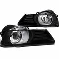 07-09 Toyota Camry Clear Fog Driving Lights Bumper Lamps+Switch Left+Right