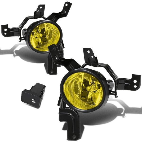 07-09 Honda CRV Lx/Ex/Sport Re Yellow Lens Oe Driving Fog Lights