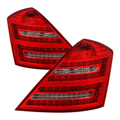 07-09 Mercedes Benz W221 S-Class Red Clear LED Tail Lights