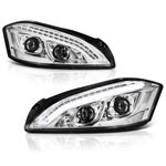07-09 Mercedes Benz W221 S Class [Xenon/HID Model Only] LED DRL  Projector Headlights - Chrome