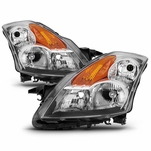 07-09 Nissan Altima 4DR [Halogen Model] Crystal Replacement Headlights - Chrome