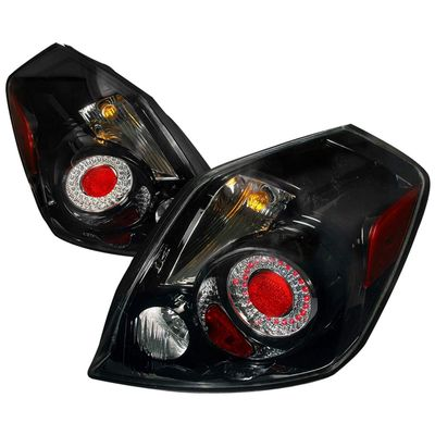 07-09 Nissan Altima Euro Style LED Tail Lights Round Style By Depo - Black