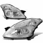 07-09 Nissan Altima Sedan Factory Style Replacement Headlights - Chrome / Clear