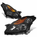 07-09 Nissan Altima Sedan Factory Style Replacement Headlights - Smoked Lens / Amber