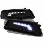 07-09 TOYOTA CAMRY BLACK CLEAR FRONT BUMPER LED DRL FOG LIGHT