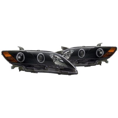07-09 Toyota Camry Dual CCFL Halo Projector Headlights - Black