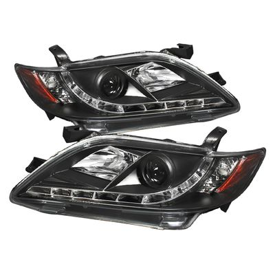 07-09 Toyota Camry LED DRL Projector Headlights - Black