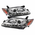 07-09 Toyota Camry LED DRL Projector Headlights - Chrome