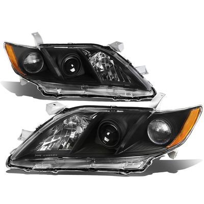 07-09 Toyota Camry [Non Hybrid Model] OE-Style Replacement Headlights  - Black / Amber