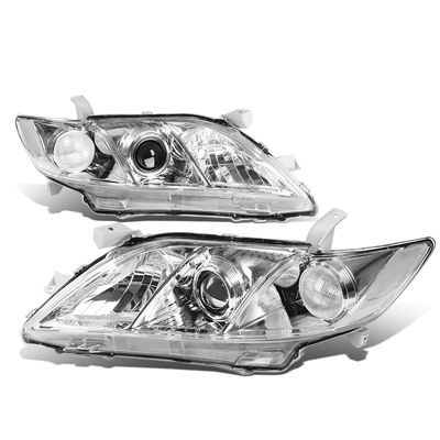 07-09 Toyota Camry [Non Hybrid Model] OE-Style Replacement Headlights  - Chrome / Clear