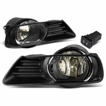 07-09 Toyota Camry Smoked Lens Oe Bumper Driving Fog Light+Bezel+Switch