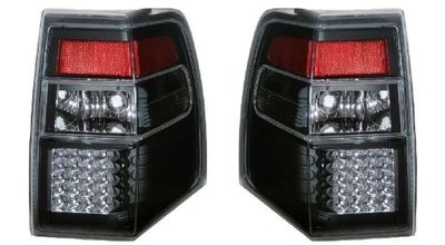 07-10 Ford Expedition Euro Style LED Tail Lights - Black