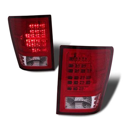 07-10 Jeep Grand Cherokee LED Tail Lights - Red Clear