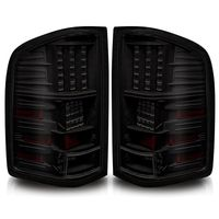 2007-2013 Chevy Silverado Performance LED Tail Lights - Black Smoked