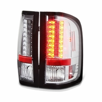 2007-2013 Chevy Silverado Pickup LED Tail Lights - Chrome ALT-YD-CS07-LED-C By Spyder