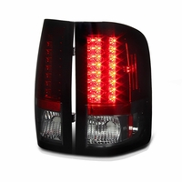 2007-2013 Chevy Silverado Pickup LED Tail Lights - Red / Smoked ALT-YD-CS07-LED-RC By Spyder