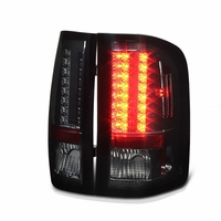 2007-2013 Chevy Silverado Pickup LED Tail Lights - Smoked 111-CS07-LED-SM By Spyder