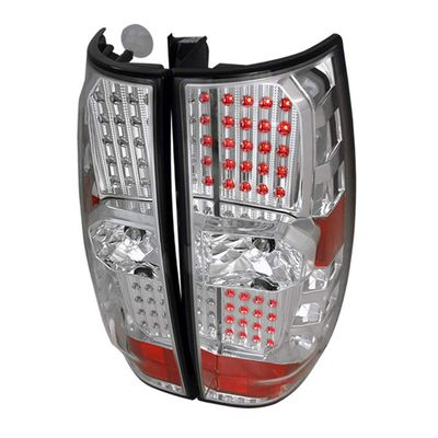 07-11 Chevy Tahoe / Suburban / GMC Yukon Euro Style LED Tail Lights - Chrome