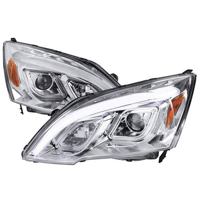 07-11 Honda CR-V LED DRL Projector Headlights - Chrome