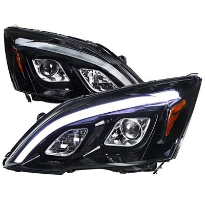 07-11 Honda CR-V LED DRL Projector Headlights - Gloss Black