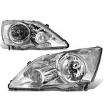 07-11 Honda CR-V OE-Style Replacement Headlights - Chrome / Clear