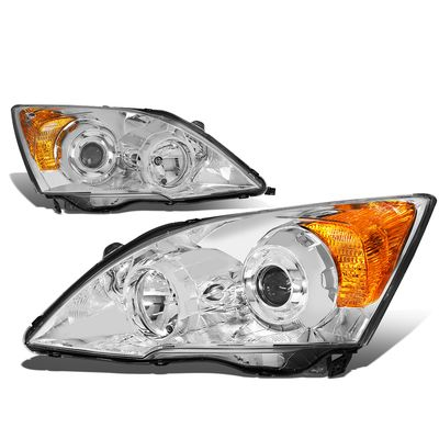 07-11 Honda CRV RE  Projector Headlight Assembly - (Black Housing Amber Corner)
