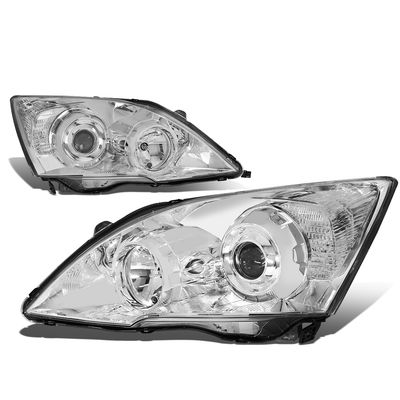 07-11 Honda CRV RE  Projector Headlight Assembly - (Black Housing Clear Corner)