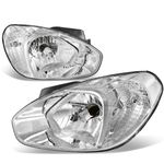 07-11 Hyundai Accent Headlight Assembly (Driver & Passenger Side) - Chrome Clear