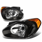 07-11 Hyundai Accent OE-Style Replacement Headlights - Black / Amber