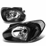 07-11 Hyundai Accent OE-Style Replacement Headlights - Black / Clear