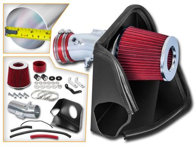 07-11 Nissan Altima 3.5L V6 Performance Heat Shield Air Intake - Red Filter