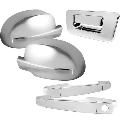07-11 SILVERADO/SIERRA 2DR CHROME TAILGATE+DOOR HANDLE+SIDE MIRROR COVERS SET