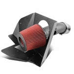 07-11 Toyota Camry / 09-16 Venza V6 Black Wrinkle Aluminum Cold Air Intake Pipe + Heat Shield + Filter
