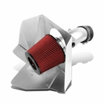 07-11 Toyota Camry / 09-16 Venza V6 Polish Silver Aluminum Cold Air Intake Pipe + Heat Shield + Filter