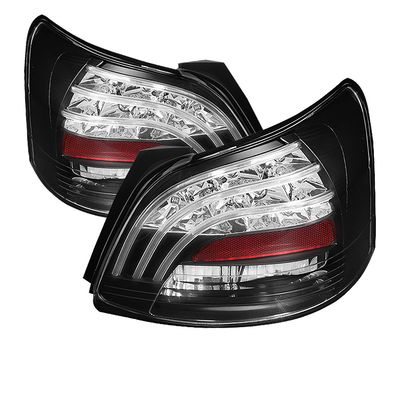 07-11 Toyota Yaris 4DR Sedan LED Tail Lights - Black ALT-YD-TYA074D-LED-BK By Spyder