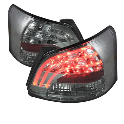 07-11 Toyota Yaris 4DR Sedan LED Tail Lights - Smoked ALT-YD-TYA074D-LED-SM By Spyder