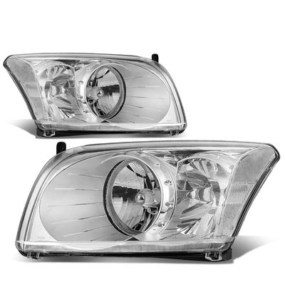07-12 Dodge Caliber  Headlight Assembly (Driver & Passenger Side) - Chrome / Clear