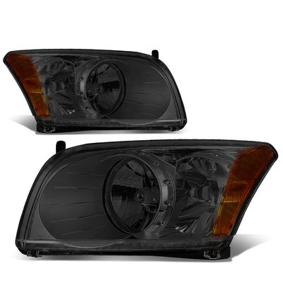 07-12 Dodge Caliber  Headlight Assembly (Driver & Passenger Side) - Smoked / Amber