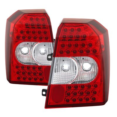 07-12 Dodge Caliber LED Tail Lights - Red Clear