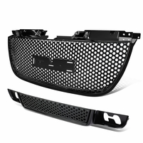 07-12 GMC Yukon GMT900 Bolt-On Upper + Lower Bumper Mesh Grill - Black