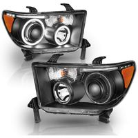 07-13 Toyota Tundra Dual CCFL Halo Projector Headlights - Black