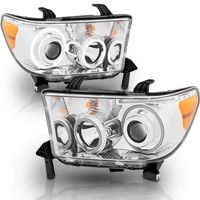 07-13 Toyota Tundra Dual CCFL Halo Projector Headlights - Chrome