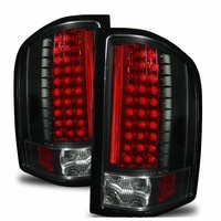 07-13 Chevy Silverado 1500 2500 HD Euro LED Tail Lights - Black