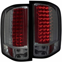 07-13 Chevy Silverado 1500 2500 HD Euro LED Tail Lights - Smoked